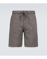 Frescobol Carioca Felipe Linen-blend Shorts - Grey