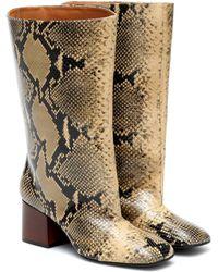 Marni Stiefel aus Leder - Braun