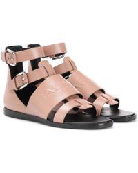 Balmain - Leather Sandals - Lyst
