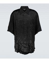 Balenciaga Camisa fluida de manga corta - Negro