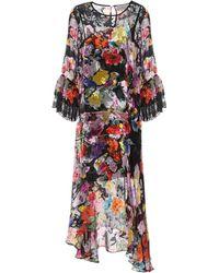 Preen By Thornton Bregazzi Madeleine Devoré Dress - Multicolour
