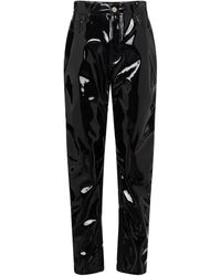 The Attico - Pantalon Dua à taille haute en vinyle - Lyst