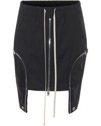Rick Owens Les Stretch-cotton Miniskirt - Black