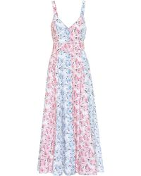 Gül Hürgel Floral Linen Dress - Pink