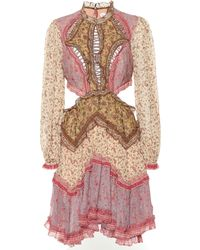 Zimmermann Vestido Juniper de algodón y seda - Multicolor