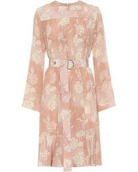 Chloé Floral Silk-satin Dress - Pink