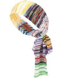 Missoni Chevron-knit Headband - Multicolour