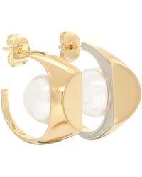 Maison Margiela Faux-pearl Earrings - Metallic