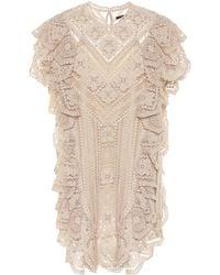 Isabel Marant Zanetti Crocheted Cotton Minidress - Natural