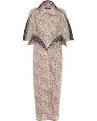 Y. Project Floral Cotton Shirt Dress - Multicolour