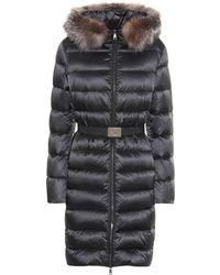 Moncler Tinuv Fur-trimmed Down Coat - Black