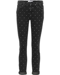 Current/Elliott - Cropped Jeans The Easy Stiletto - Lyst