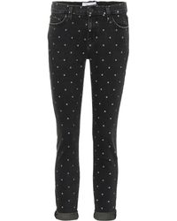Current/Elliott - The Easy Stiletto Polka-dot Skinny Jeans - Lyst