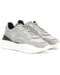 Tod's Sneakers in pelle e nabuk - Grigio