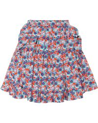 MSGM - Floral-printed Cotton Skirt - Lyst
