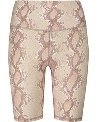 Varley Albury Snakeskin Printed Shorts - Natural