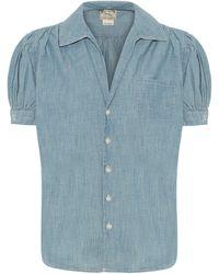 Polo Ralph Lauren Kurzärmliges Chambrayhemd - Blau