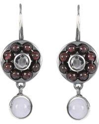 Bottega Veneta - Beaded Sterling Silver Earrings - Lyst