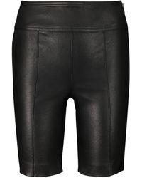 Helmut Lang Leather Biker Shorts - Black