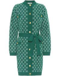Gucci Cardigan mit Gürtel - Grün