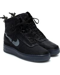 Nike Air Force 1 Shell Trainers - Black