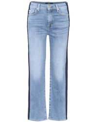 7 For All Mankind - Jeans Kiki cropped - Lyst