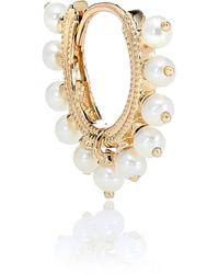 Maria Tash Eternity 14kt Gold Single Earring With Pearls - Metallic