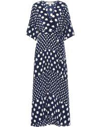Diane von Furstenberg Gepunktetes Kleid - Blau