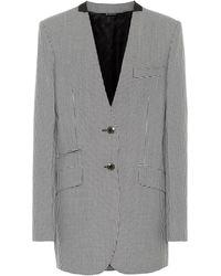Givenchy Blazer en laine mélangée à carreaux - Noir