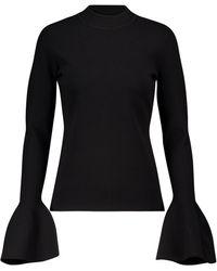 Diane von Furstenberg Mockneck Sweater - Black