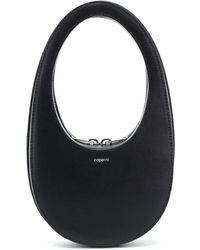 Coperni Swipe Mini Leather Shoulder Bag - Black