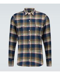 Alanui Cotton Flannel Checked Shirt - Blue