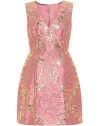 Dolce & Gabbana Brocade Minidress - Pink