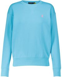 Polo Ralph Lauren Pullover aus einem Baumwollgemisch - Blau