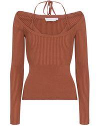 Jonathan Simkhai Jayline Layered Ribbed-knit Top - Brown