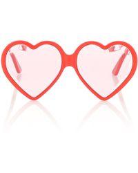 Gucci Lunettes de soleil cœur - Rose
