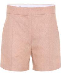 JOSEPH Windsor Linen-blend Shorts - Brown