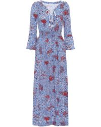Poupette Exclusive To Mytheresa – Lucy Printed Midi Dress - Blue