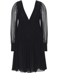 Stella McCartney Claire Silk Georgette Dress - Black
