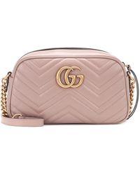 Gucci Borsa a spalla GG Marmont matelassé misura piccola - Multicolore