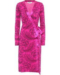 Diane von Furstenberg Printed Silk Dress - Pink