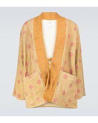 Visvim Kiyari Leather Kimono Jacket - Natural