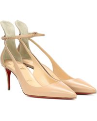 Christian Louboutin Mascara 70 Leather Court Shoes - Natural