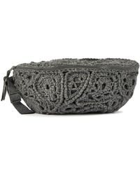 Brunello Cucinelli Crochet Belt Bag - Grey