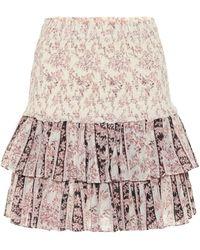 Étoile Isabel Marant Naomi Floral Cotton Miniskirt - Multicolor