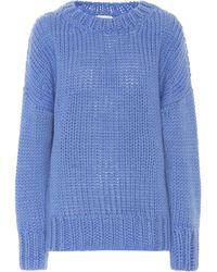 Dries Van Noten Wool And Mohair Sweater - Blue
