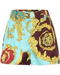 Versace High-rise Baroque Printed Shorts - Multicolour