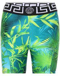 Versace Shorts aus Jersey - Grün