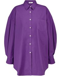 Frankie Shop Exclusive To Mytheresa – Melody Oversized Cotton Shirt - Purple