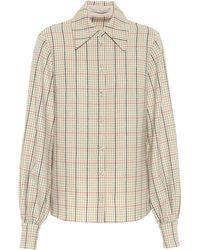 Emilia Wickstead Petula Checked Wool Shirt - Natural